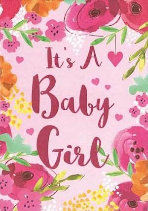 Baby Girl Card #E806