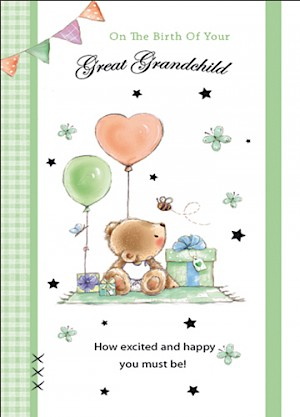 Great Grandparents - Birth of Great Grandchild Card #E820
