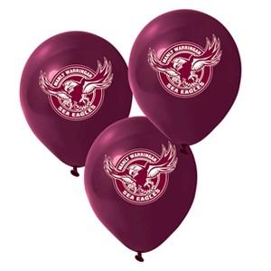Manly Warringah Sea Eagles Latex Balloon