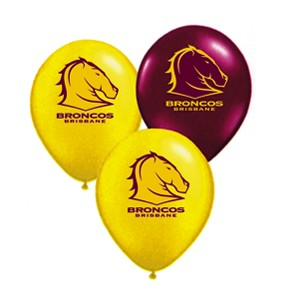 Brisbane Broncos Latex Balloon