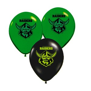 Canberra Raiders Latex Balloon