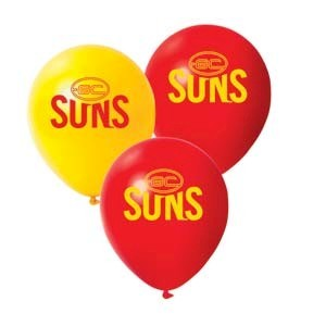 Gold Coast Suns Latex Balloon