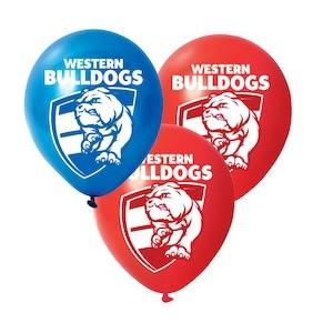 Western Bulldogs Latex Balloon