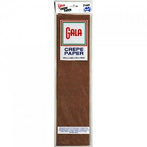 Dark Brown Gala Crepe Paper