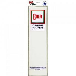 White Gala Crepe Paper