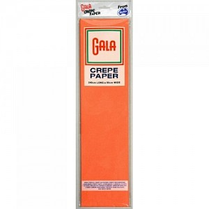 Orange Gala Crepe Paper