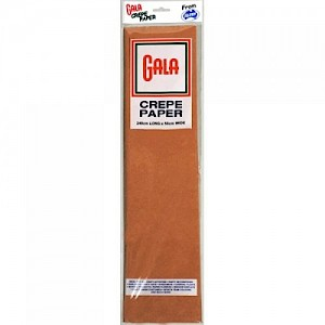 Light Brown Gala Crepe Paper