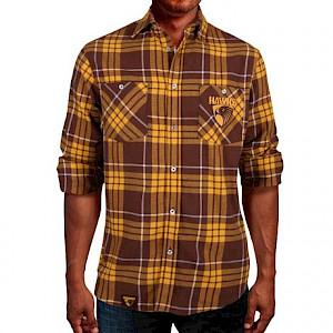 Hawthorn Hawks Flannel Shirt - Size S