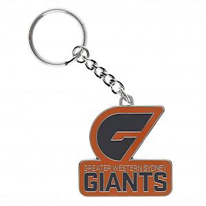 GWS Giants Metal Logo Keyring