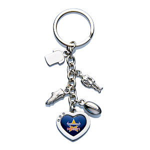 North Queensland Cowboys Charm Keyring