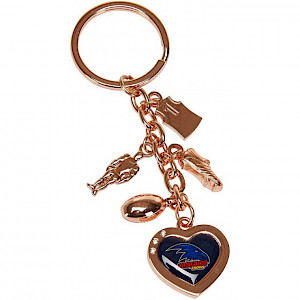 Adelaide Crows Charm Keyring