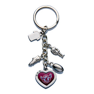 Manly Warringah Sea Eagles Charm Keyring