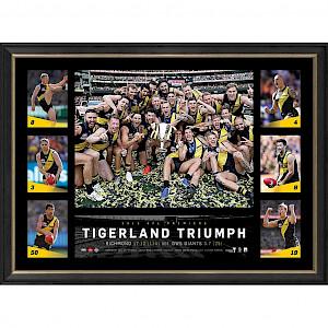 "Richmond Tigers 2019 Premiers Wall Picture ""Tigerland Triumph"""