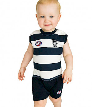 Geelong Cats Short Footysuit - Size 00