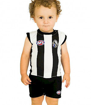 Collingwood Magpies Short Footysuit - Size 1