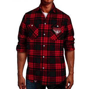 Essendon Bombers Flannel Shirt - Size M