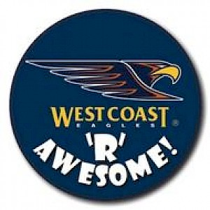 West Coast Eagles Supporter Badge - Awesome
