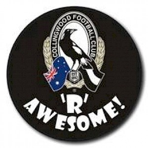 Collingwood Magpies Supporter Badge - Awesome