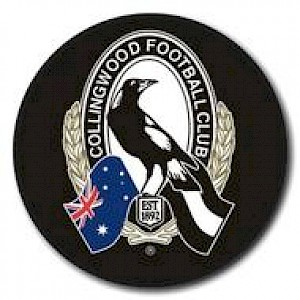 Collingwood Magpies Supporter Badge - New Logo