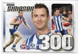 2015 AFL Select Champions 300 Games Case Card CC-55 Adam Simpson #132
