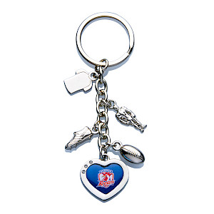 Sydney Roosters Charm Keyring