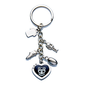 New Zealand Warriors Charm Keyring