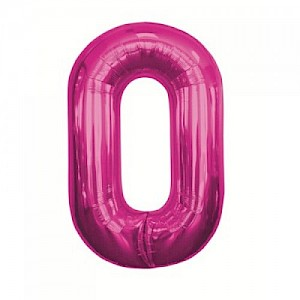 "34"" Number 0 Foil Balloon - Pink"
