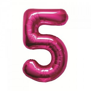 "34"" Number 5 Foil Balloon - Pink"