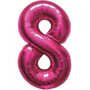 "34"" Number 8 Foil Balloon - Pink"