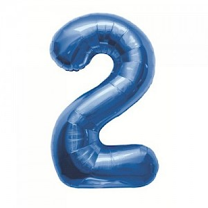 "34"" Number 2 Foil Balloon - Blue"