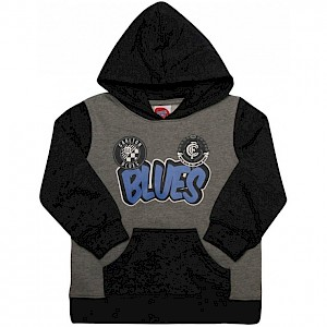 Carlton Blues Supporter Pullover Hood - Size 2