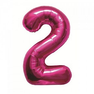 "34"" Number 2 Foil Balloon Arrangement - Pink"