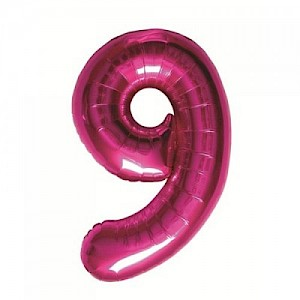 "34"" Number 9 Foil Balloon Arrangement - Pink"