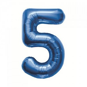 "34"" Number 5 Foil Balloon Arrangement - Blue"