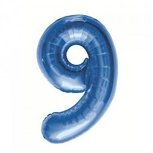 "34"" Number 9 Foil Balloon Arrangement - Blue"