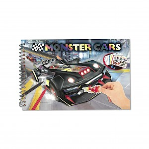 Monster Cars Pocket Colouring/Activity Book