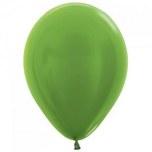 Metallic Lime Green 30cm Latex Balloon & Helium
