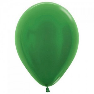 Metallic Emerald Green 30cm Latex Balloon & Helium