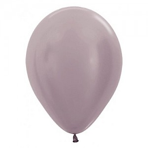 Satin Greige 30cm Latex Balloon & Helium