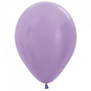 Satin Lilac 30cm Latex Balloon, Helium & Hi Float