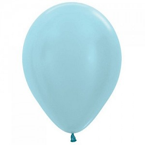 Satin Blue 30cm Latex Balloon, Helium & Hi Float