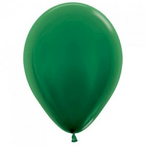 Metallic Forest Green 30cm Latex Balloon & Helium