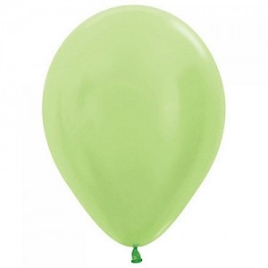 Satin Lime 30cm Latex Balloon, Helium & Hi Float