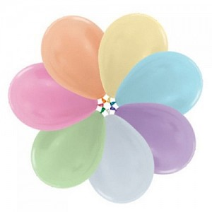 25 x Loose 30cm Latex Balloons with Hi Float - Pearl