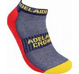 Adelaide Crows 2PK Ankle Socks - 7-11