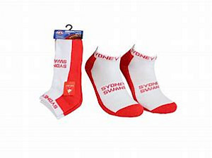 Sydney Swans 2PK Ankle Socks - Size 11-14