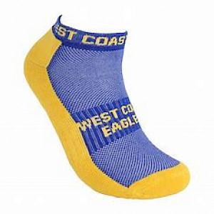 West Coast Eagles 2PK Ankle Socks - Size 11-14