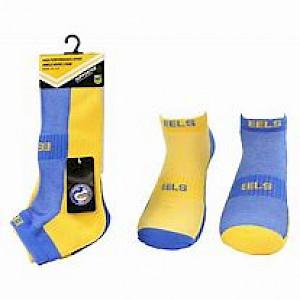 Parramatta Eels 2PK Ankle Socks - Size 11-14