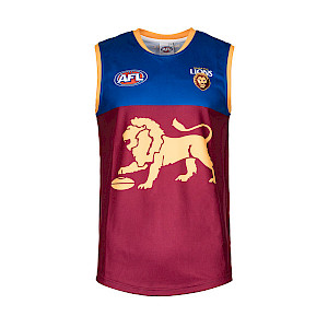 Brisbane Lions Sleeveless Replica Guernsey - Size 12