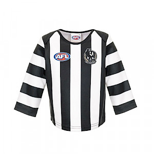Collingwood Magpies Long-sleeved Replica Guernsey - Size 1